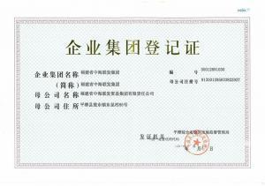 中海联发集团企业集团登记证