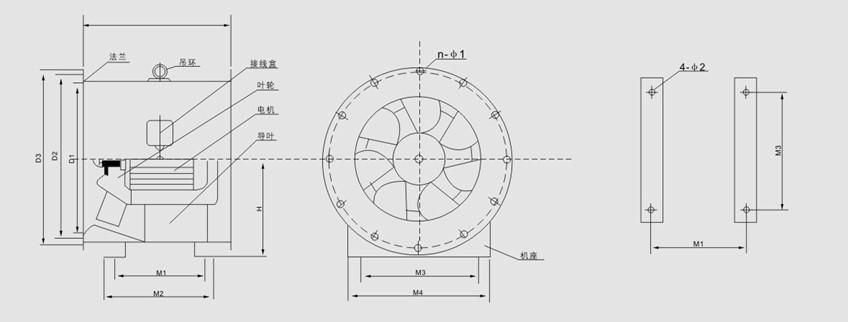SWF型低噪声混流式通风机主要技术参数